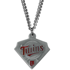 Chain Necklace & MLB Pendant - Minnesota Twins