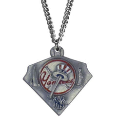 Chain Necklace & MLB Pendant New York Yankees