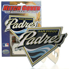 Logo Cut MLB Trailer Hitch Cover - San Diego Padres