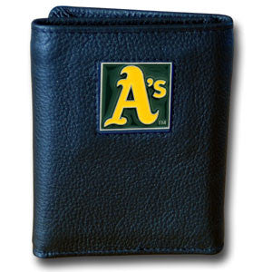 Athletics Leather Tri-fold Wallet in Tin