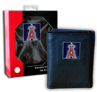 Angels Leather Tri-fold Wallet