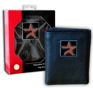Astros Leather Tri-fold Wallet