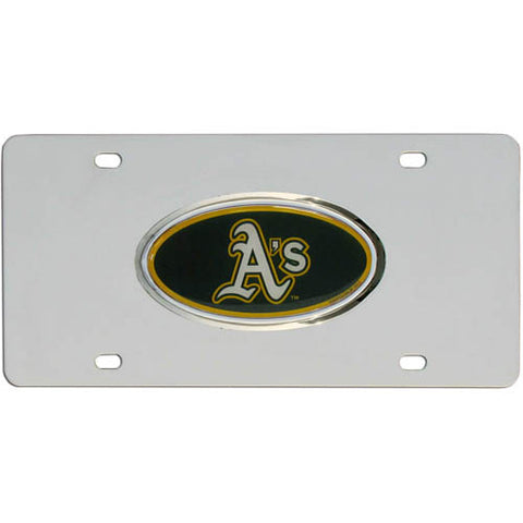 Athletics Steel License Plate