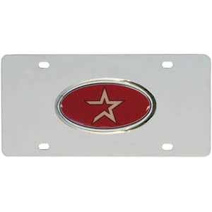 Astros Steel License Plate