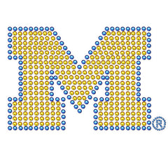 Michigan Bling Decal