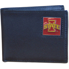 College Leather Bifold - Iowa St. Cyclones
