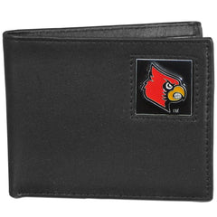 College Leather Bifold - Louisville Cardinals