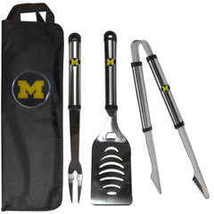 Michigan 3pc BBQ Set w/Bag
