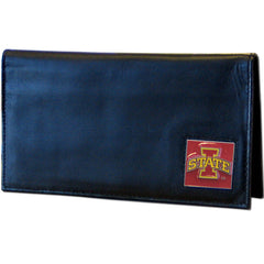 Deluxe College Leather Checkbook - Iowa St. Cyclones
