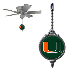 Ceiling Fan Pull - Miami Hurricanes