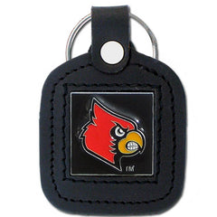 College Leather Key Ring - Louisville Cardinals