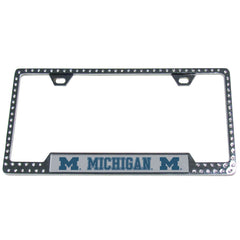 Michigan Bling Tag Frame