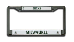 Milwaukee Bucks License Plate Chrome Frame Style 2