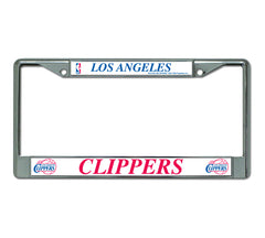 LA Clippers License Plate Chrome Frame Style 2