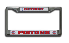 Detroit Pistons License Plate Chrome Frame Style 4