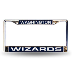 Washington Wizards Laser Cut License Plate Chrome Frame Style 2