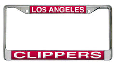 LA Clippers Laser Cut License Plate Chrome Frame