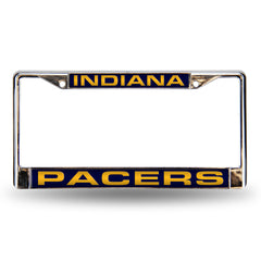 Indiana Pacers Laser Cut License Plate Chrome Frame