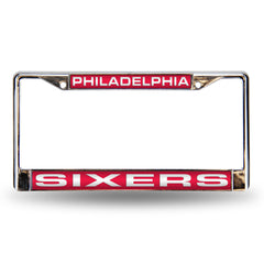 Philadelphia Sixers Laser Cut License Plate Chrome Frame Style 2