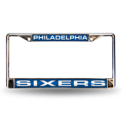 Philadelphia Sixers Laser Cut License Plate Chrome Frame Style 3