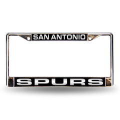 San Antonio Spurs Laser Cut License Plate Chrome Frame
