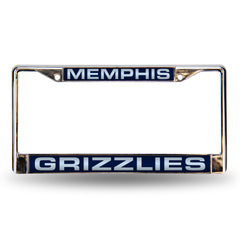 Memphis Grizzlies Laser Cut License Plate Chrome Frame