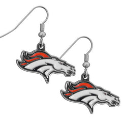 Broncos Chrome Dangle Earrings