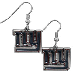 Giants Chrome Dangle Earrings