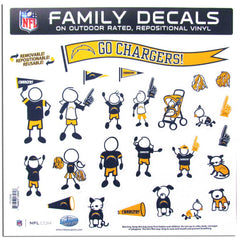 Chargers Family Decal Lg.