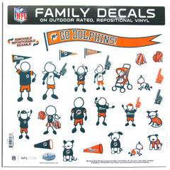 Dolphins Family Decal Lg.