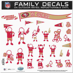 49ers Family Decal Lg.
