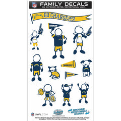 Chargers Family Decal Med.