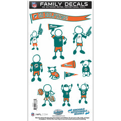 Dolphins Family Decal Med.