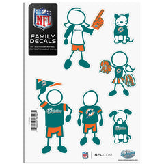 Dolphins Family Decal Sm.