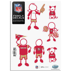 49ers Family Decal Sm.