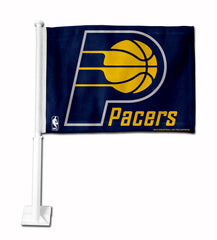 Indiana Pacers Car Flag White Style 3