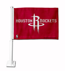Houston Rockets Car Flag White Style 2
