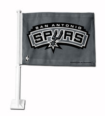 San Antonio Spurs Car Flag White Style 2