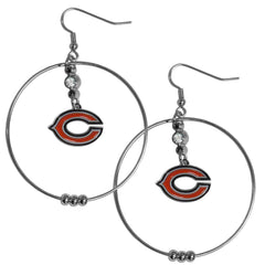 "Bears 2"" Hoop Earrings"