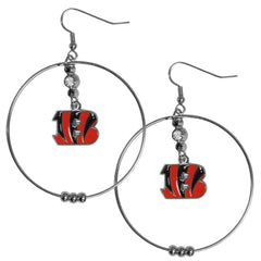"Bengals 2"" Hoop Earrings"