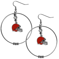"Browns 2"" Hoop Earrings"