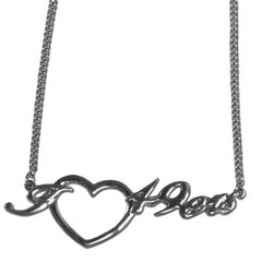 49ers Script Heart Necklace