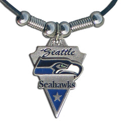 Leather NFL Necklace & Pendant - Seattle Seahawks