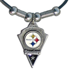 Leather NFL Necklace & Pendant - Pittsburgh Steelers