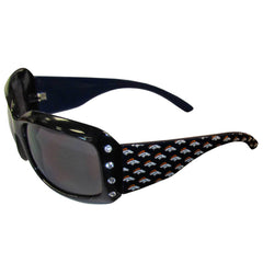 Broncos Designer Sunglasses with Rhinestones