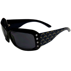 Chargers Designer Sunglasses with Rhinestones