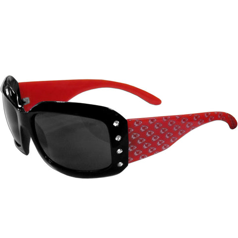 Chiefs Designer Sunglasses with Rhinestones