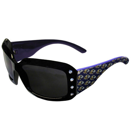 Ravens Designer Sunglasses with Rhinestones