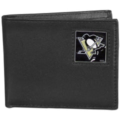 Penguins Leather Bi-fold Wallet