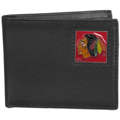 Blackhawks Leather Bi-fold Wallet